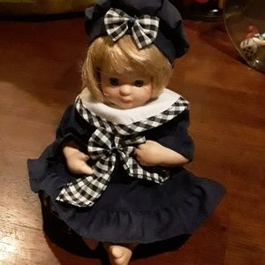"PORCELAIN  DOLL (  8"" TALL  )"